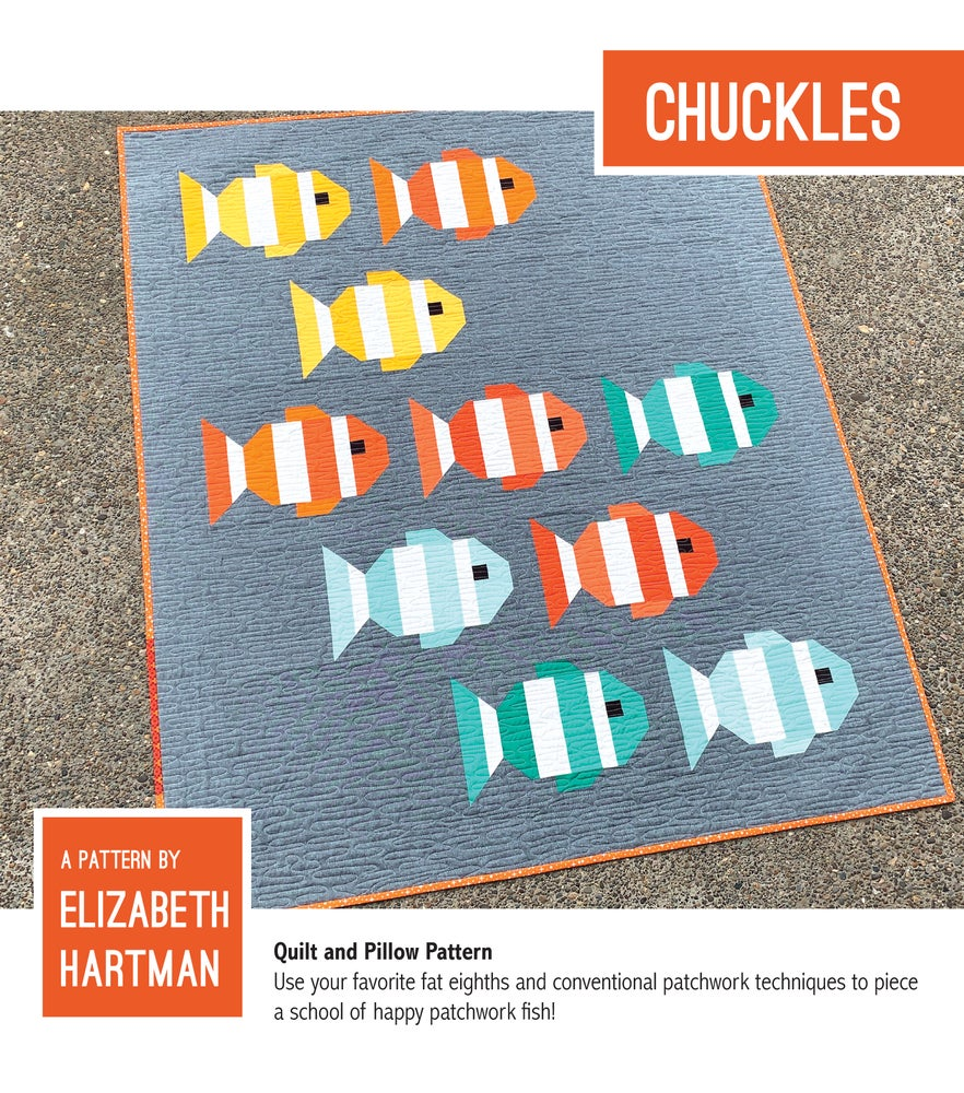Image of CHUCKLES pdf quilt and pillow pattern