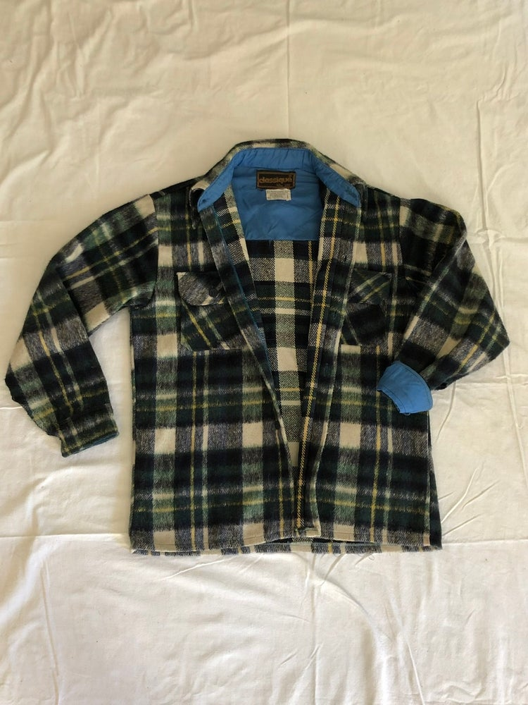 Image of Classique Wool Plaid, blue + green