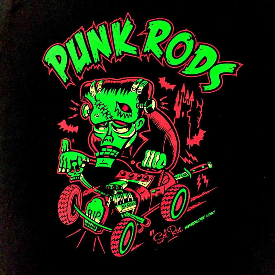 Image of Punk Rods Unisex Zip Hoodies