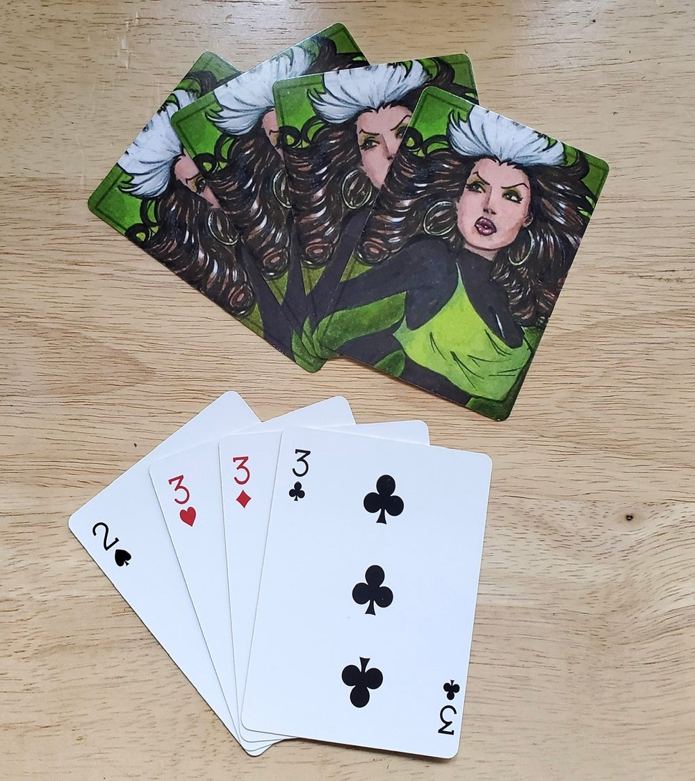 Character playing cards