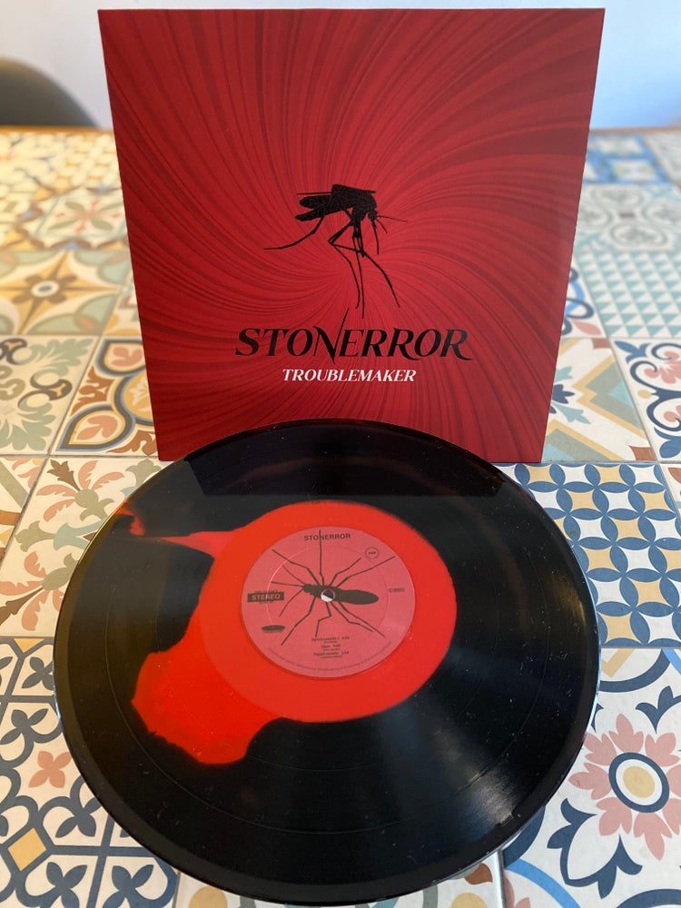 "Image of STONERROR ""TROUBLE MAKER"" BLACK / RED VINYL EDITION"