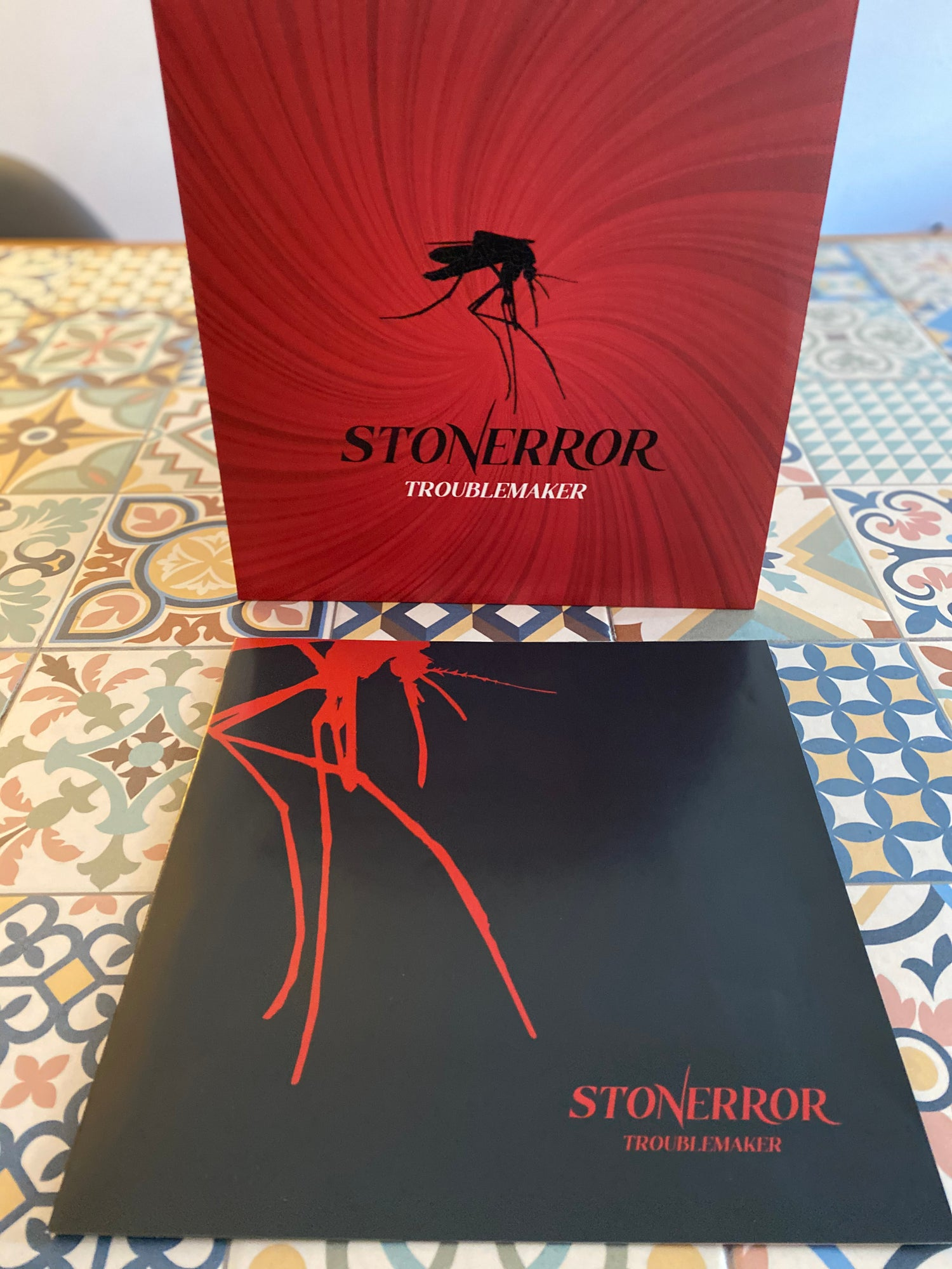 "Image of STONERROR ""TROUBLE MAKER"" BLACK / RED VINYL EDITION"