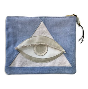 Image of ALL SEEING EYE POUCH - SELENITE