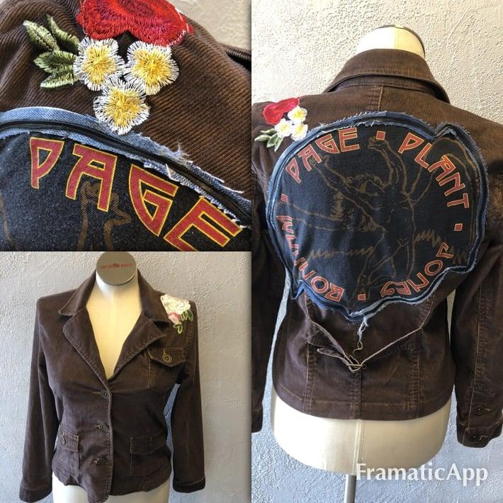 Led Zeppelin Upcycled cord jacket