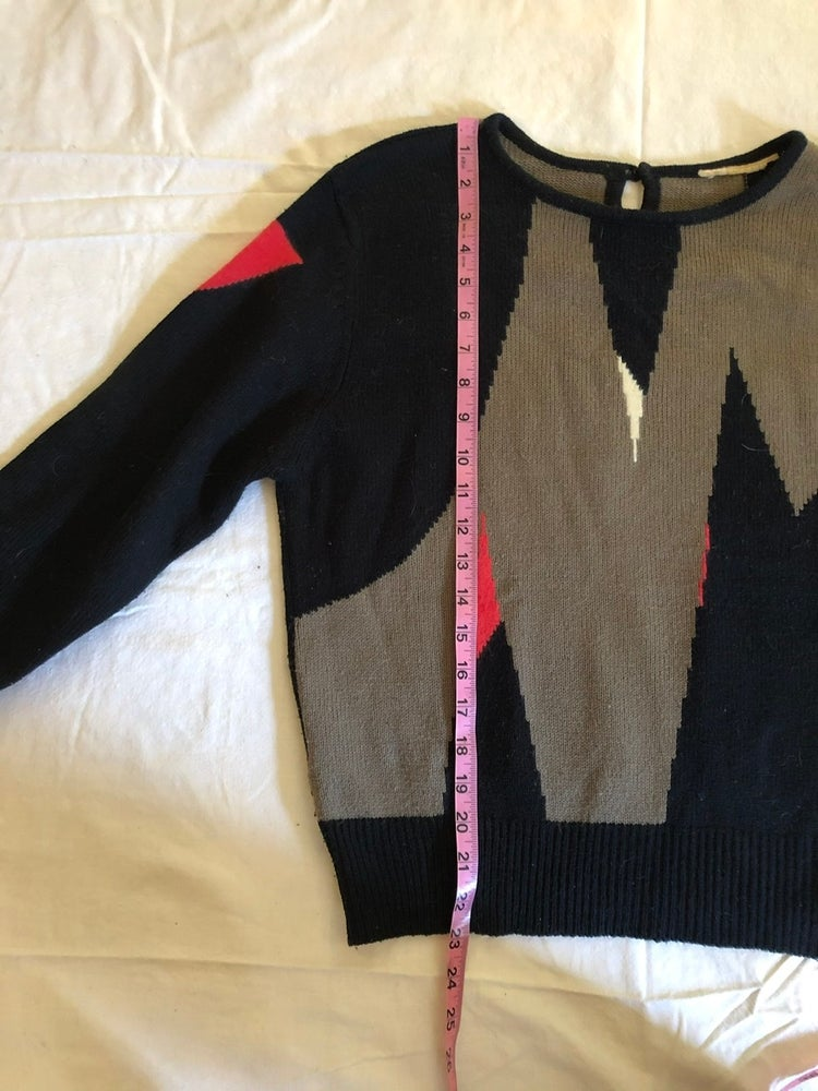 Image of Abstract, mixed wool sweater