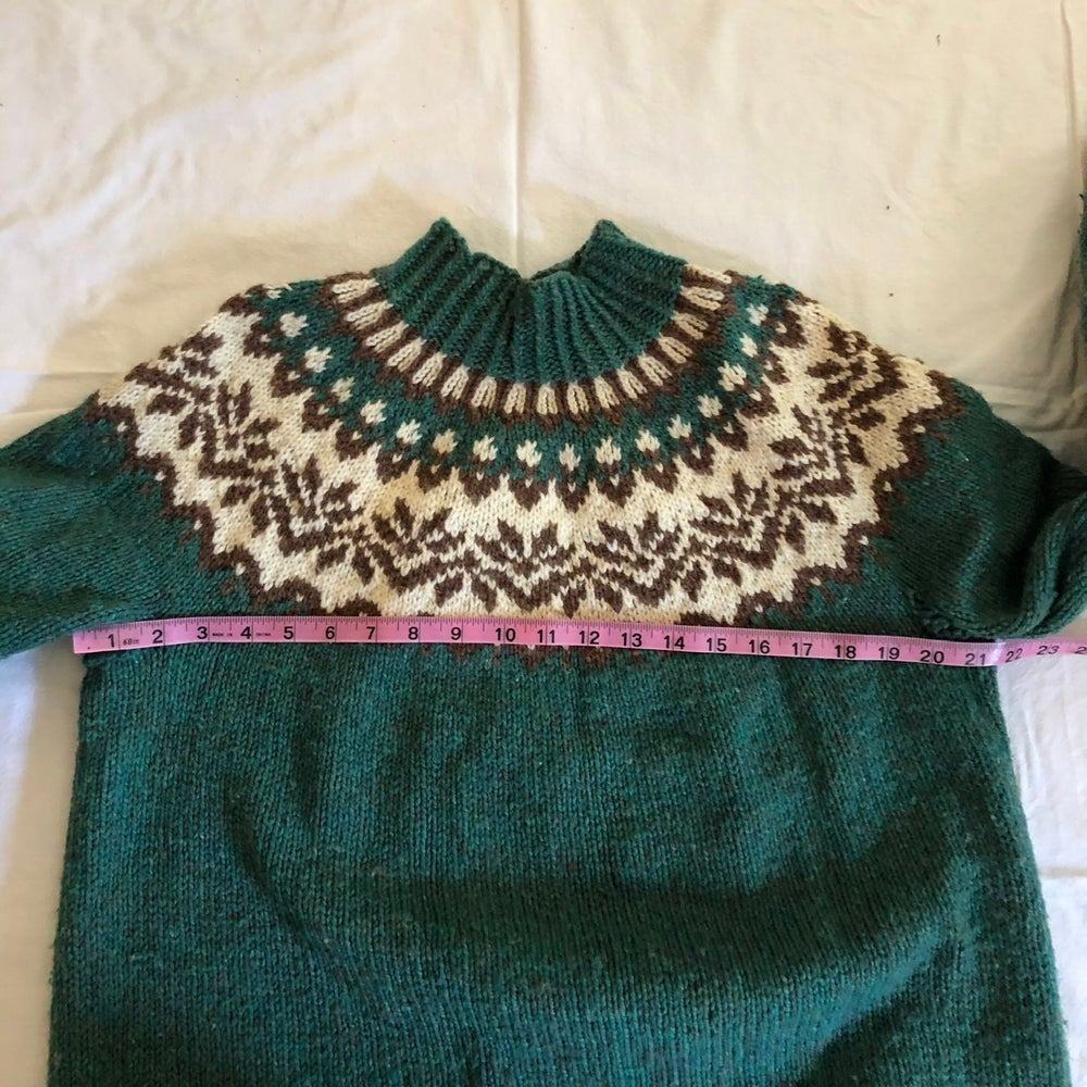Image of Green Nordic Sweater