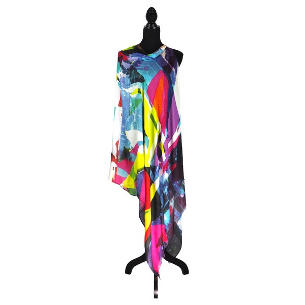 Image of Cashmere-Silk Metro Lime Button Shawl