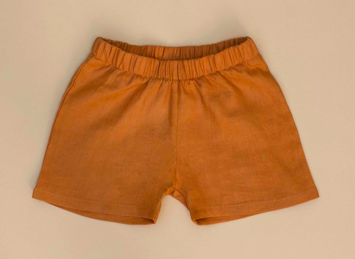 Image of Linen shorts terracotta