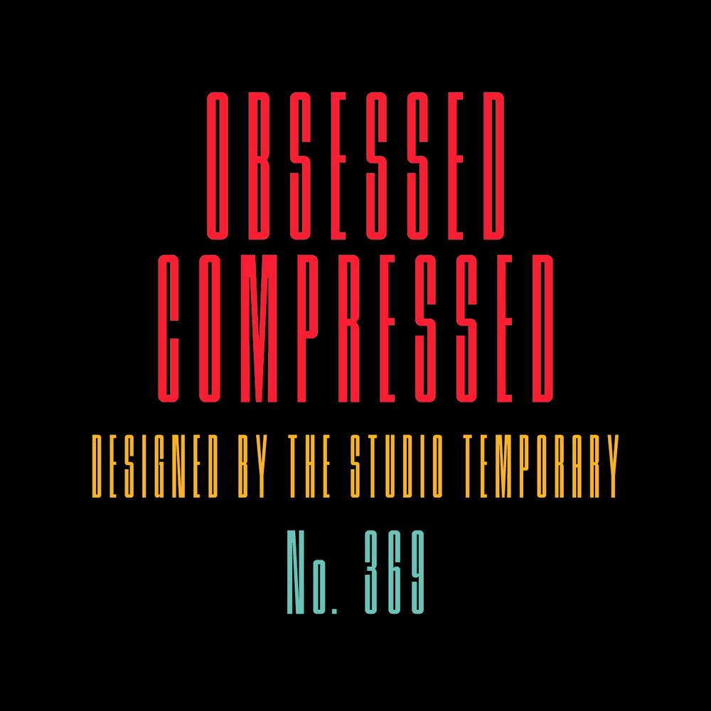 Image of Obsessed Compressed Typeface