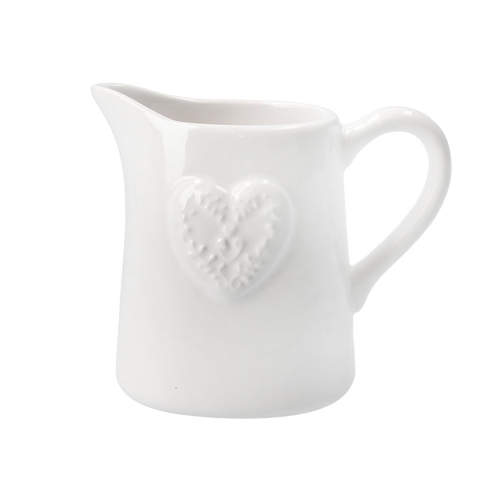 Image of Gisela Graham Little Cream Heart Jug