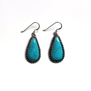 Image of Kingman Turquoise Sterling Silver Dangle Earrings