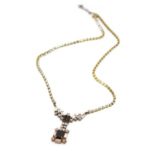 Image of VINTAGE RHINESTONE & EBONY NECKLACE 1