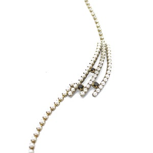 Image of VINTAGE RHINESTONE, FAKE PEARL & EBONY NECKLACE 2