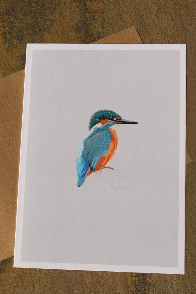 Image of King Fisher Greeting Card