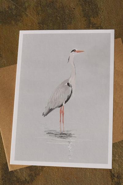 Image of Grey Heron Greeting Card