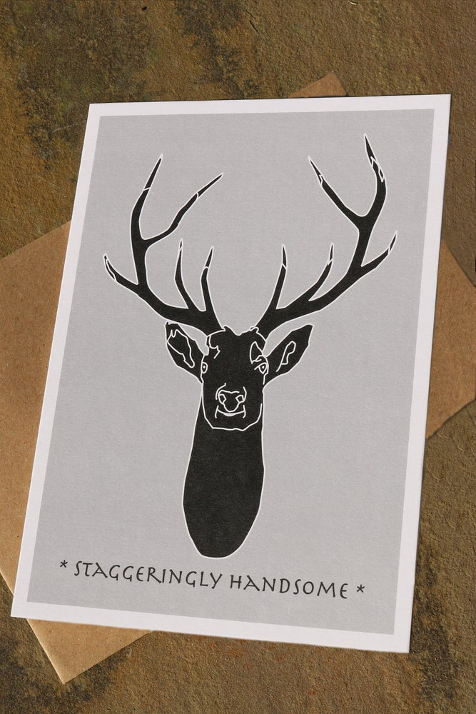 Image of Black Stag Greeting Card
