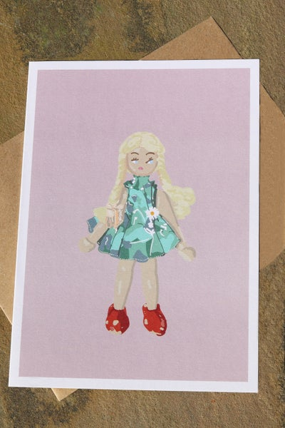 Image of Daisy Doll Greeting Card