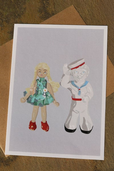Image of Daisy Doll & Sailor Sam Greeting Card