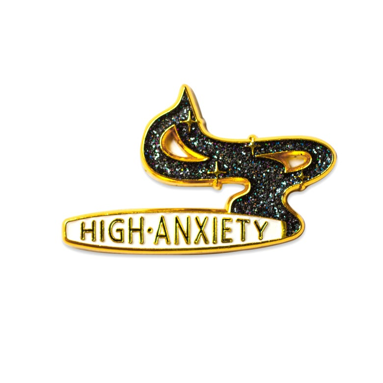 Image of High Anxiety - BLACK GLITTER