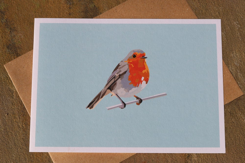Image of Robin Greeting Card