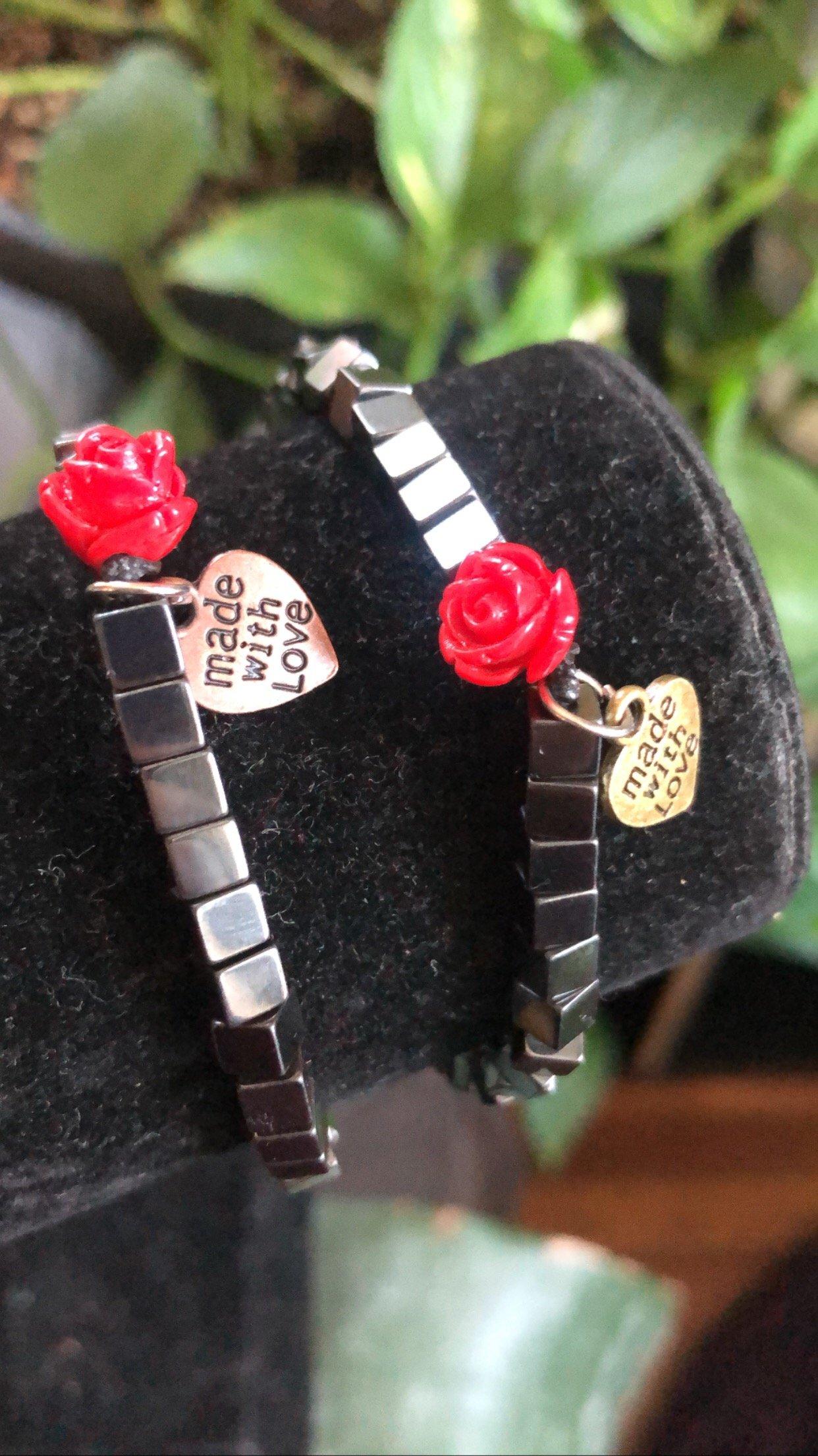 Image of ROSE LINE Hematite Bracelet