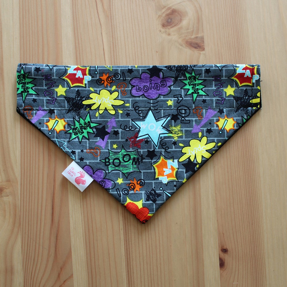 Image of Zap Boom Boing dog and cat bandana