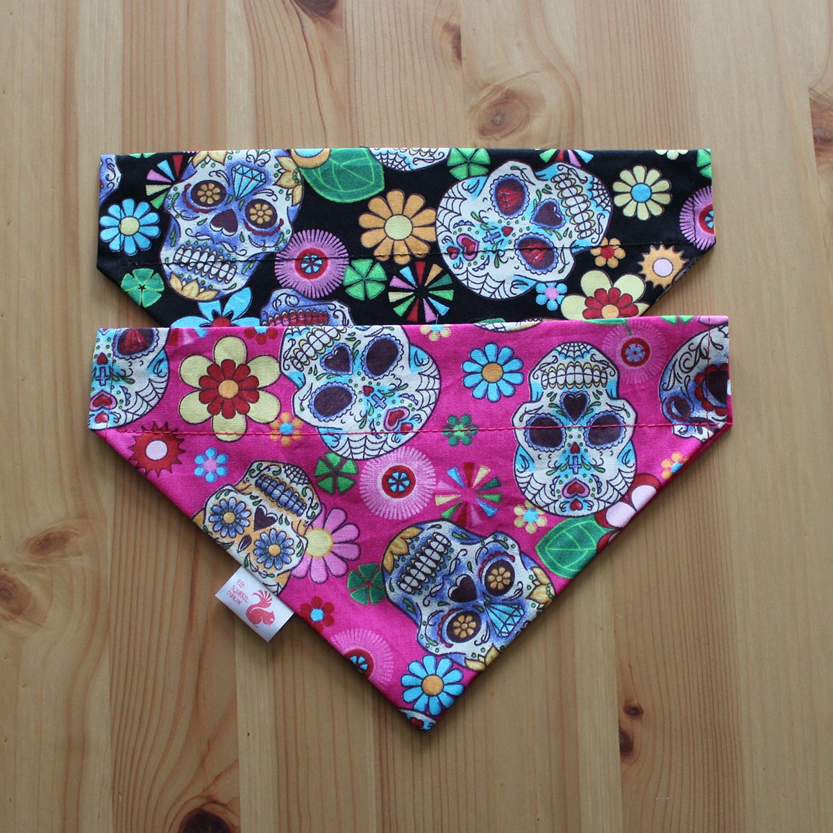 Image of Sugar Skulls dog & cat bandana