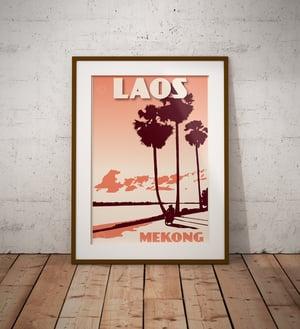 Image of Vintage poster Laos - Mekong Coral - Fine Art Print