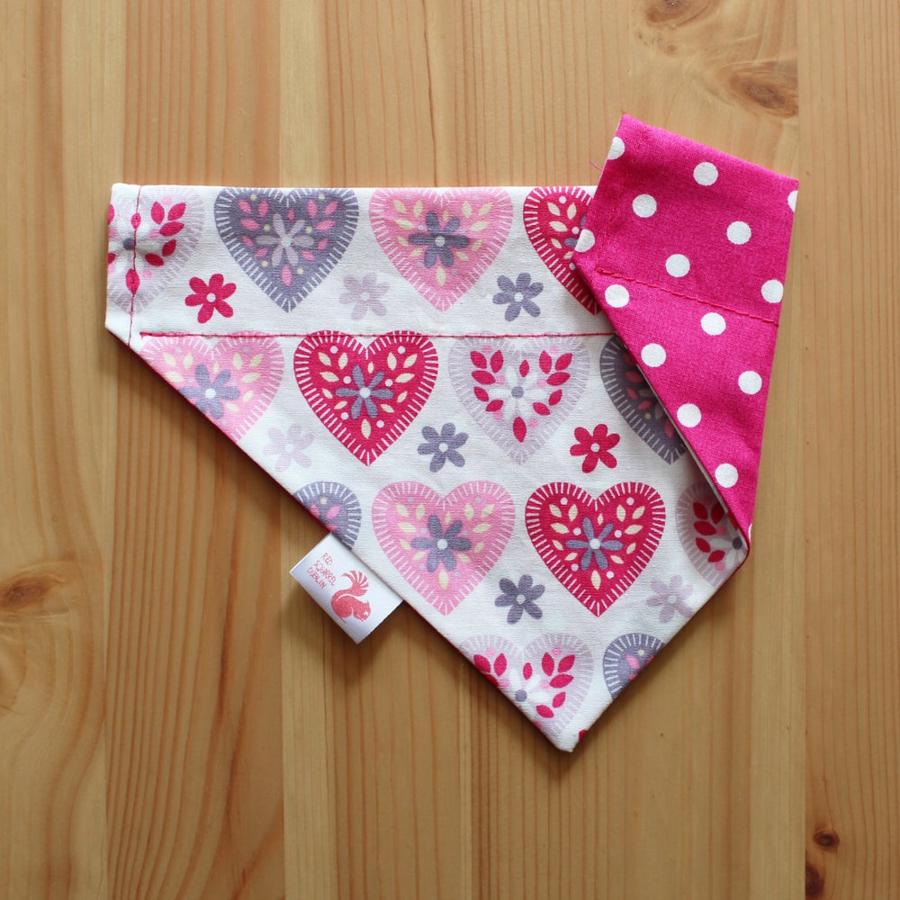 Image of Hearts dog and cat bandana