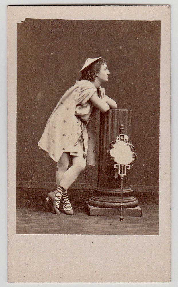 Image of Disdéri: actress Mézeray with mirror and oriental hat, ca. 1865