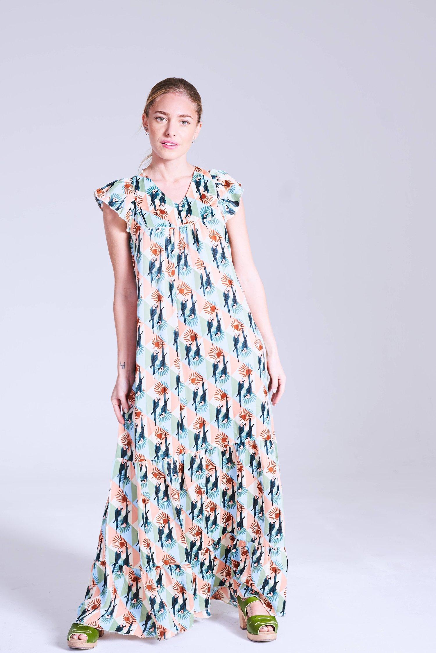 Image of Vestido Mujeres Green Loro