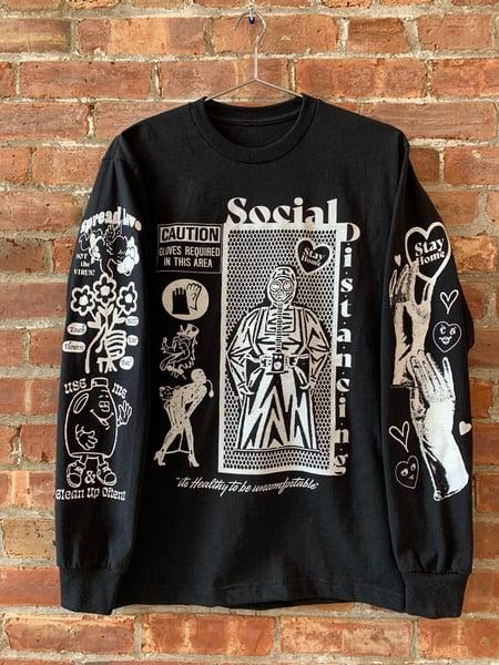Image of SOCIAL DISTANCING BLACK L/S