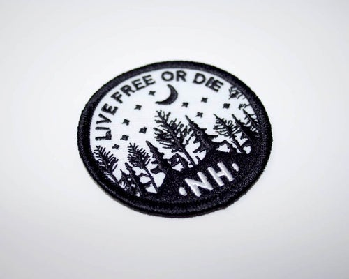 Image of NH Crescent Moon Embroidered Patch