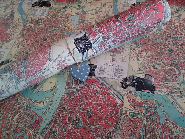 Image of Decorative Paper Maps Collection