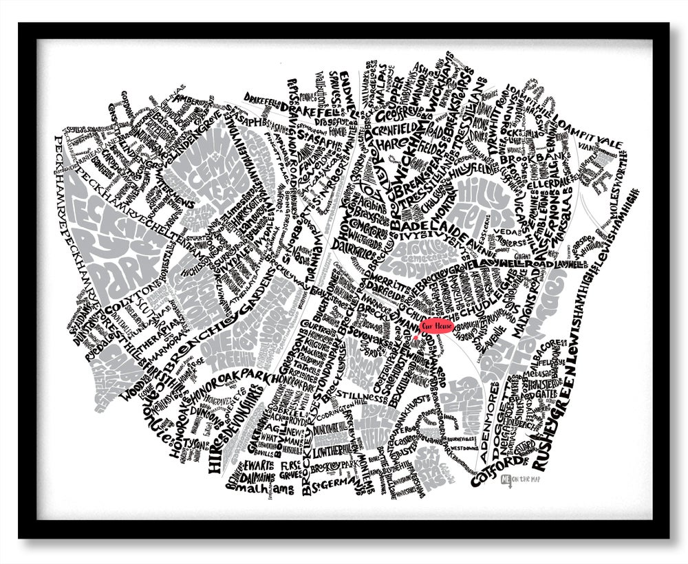 Image of Peckham Rye SE15 – Brockley & Crofton Park SE4 - SE London Type Map