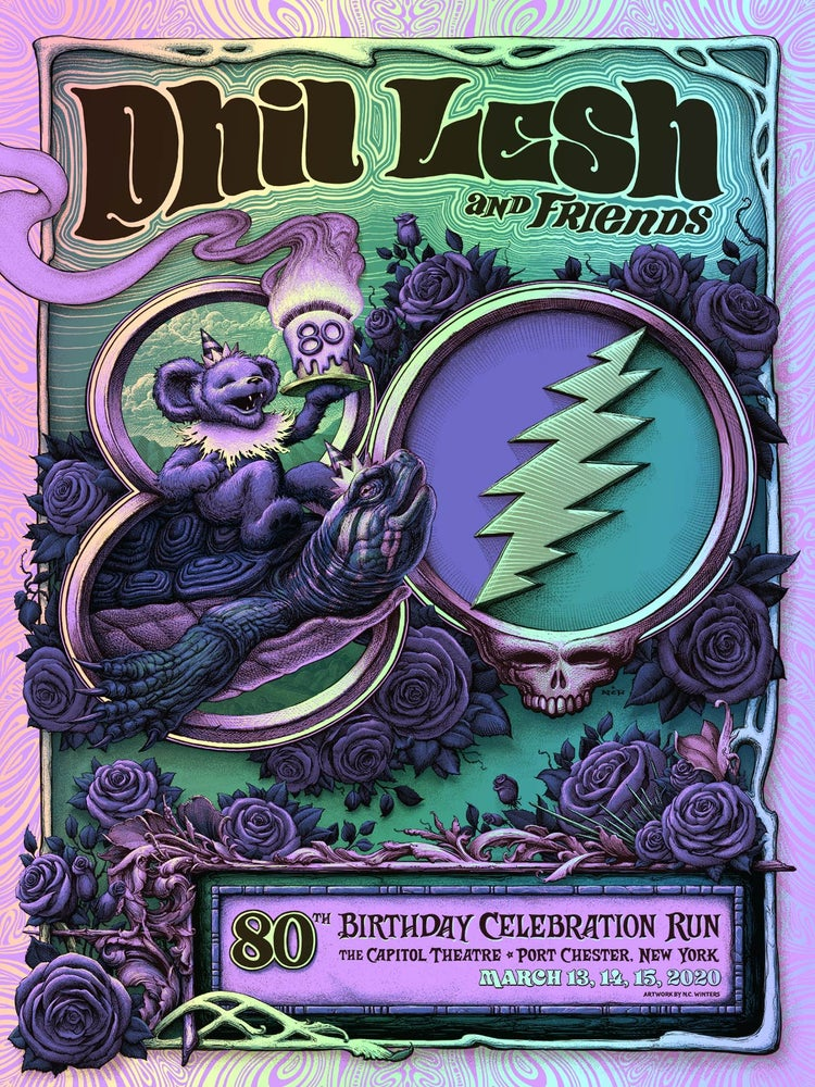 Image of Phil Lesh and Friends 80th Birthday Celebration (postponed) Gig Poster