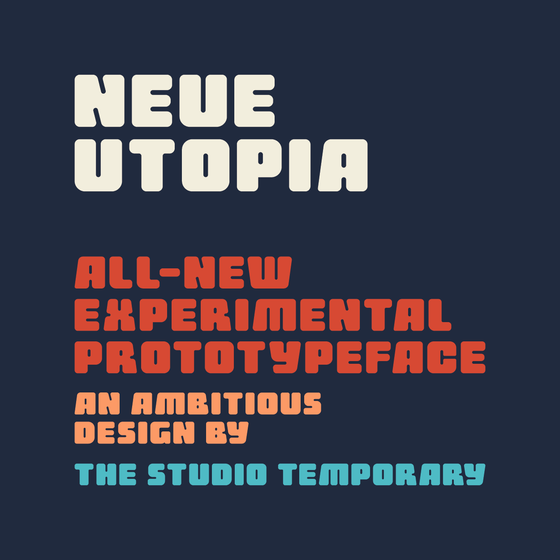 Image of Neue Utopia Typeface