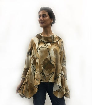 Image of 90% cotton/10% linen - Lisa Top - African inspired - Hand Painted