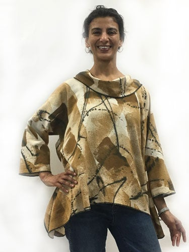 Image of Lisa Top - African inspired - 90% cotton/10% linen