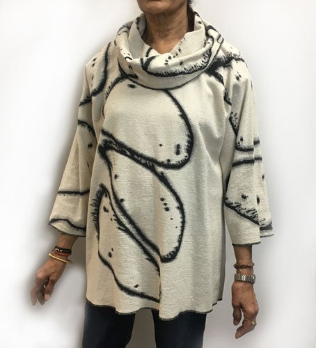 Image of Alison Tunic - hand painted - 90%Cotton/10% Linen - Rock Solid Hand Painted Design