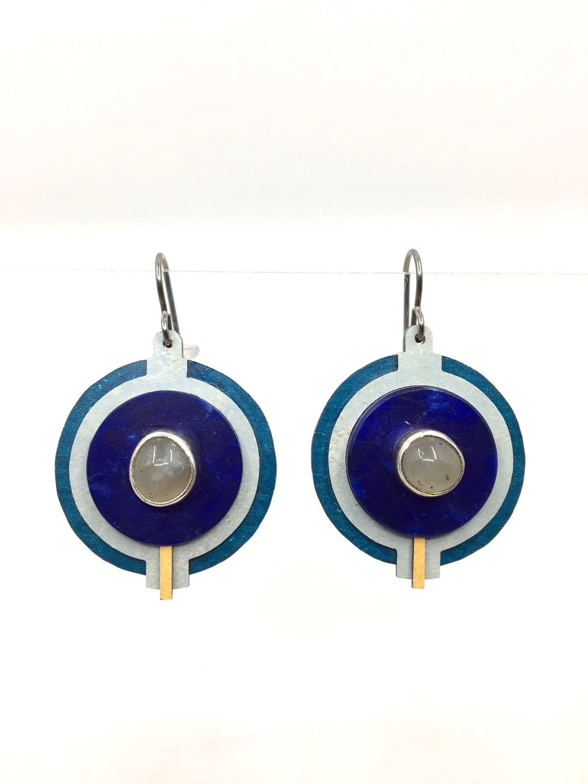 Concentric Circle Earrings by Michael Gleason