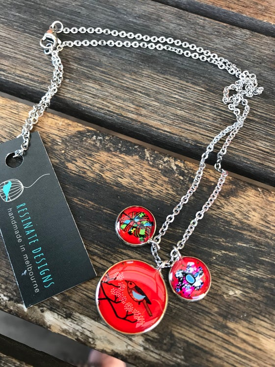 Image of Resinate necklace- red bird