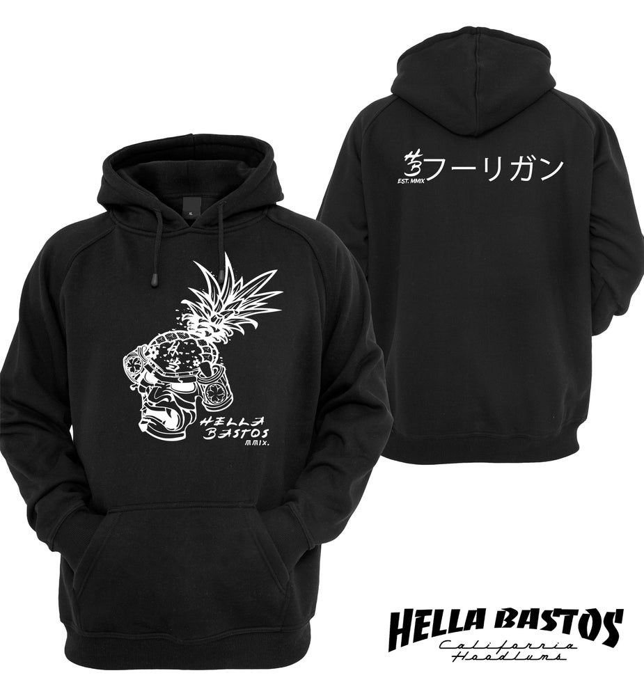 Image of HB Pinemask Hooded Sweater (Black)