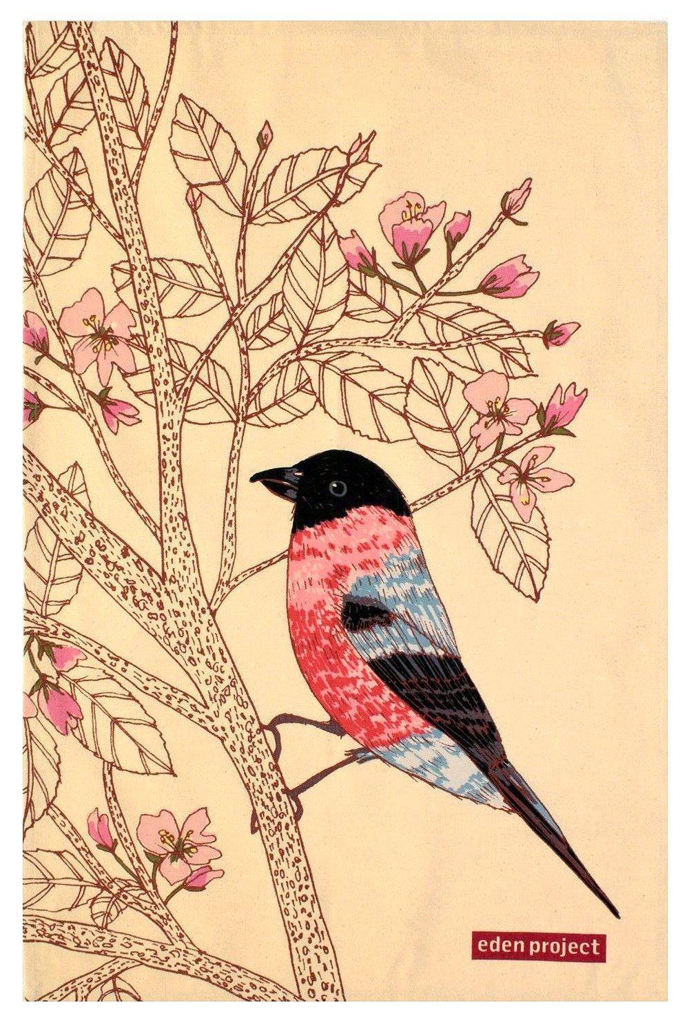 Image of Bullfinch Tea Towel
