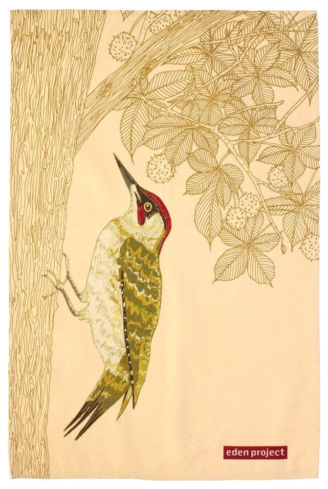 Image of Woodpecker Tea Towel
