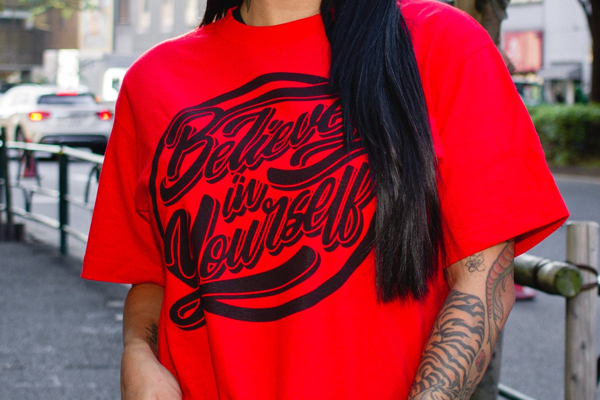 Believe in Yourself Red Tee