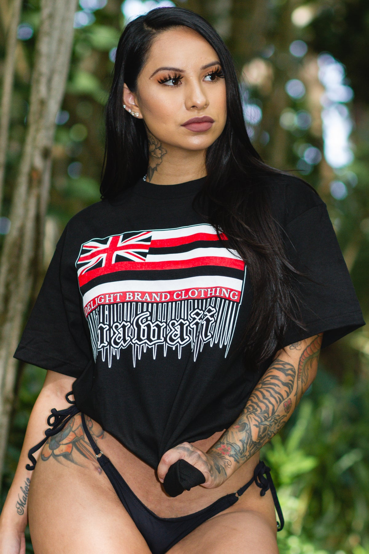 Hawaii Flag Drips Tee (Black)