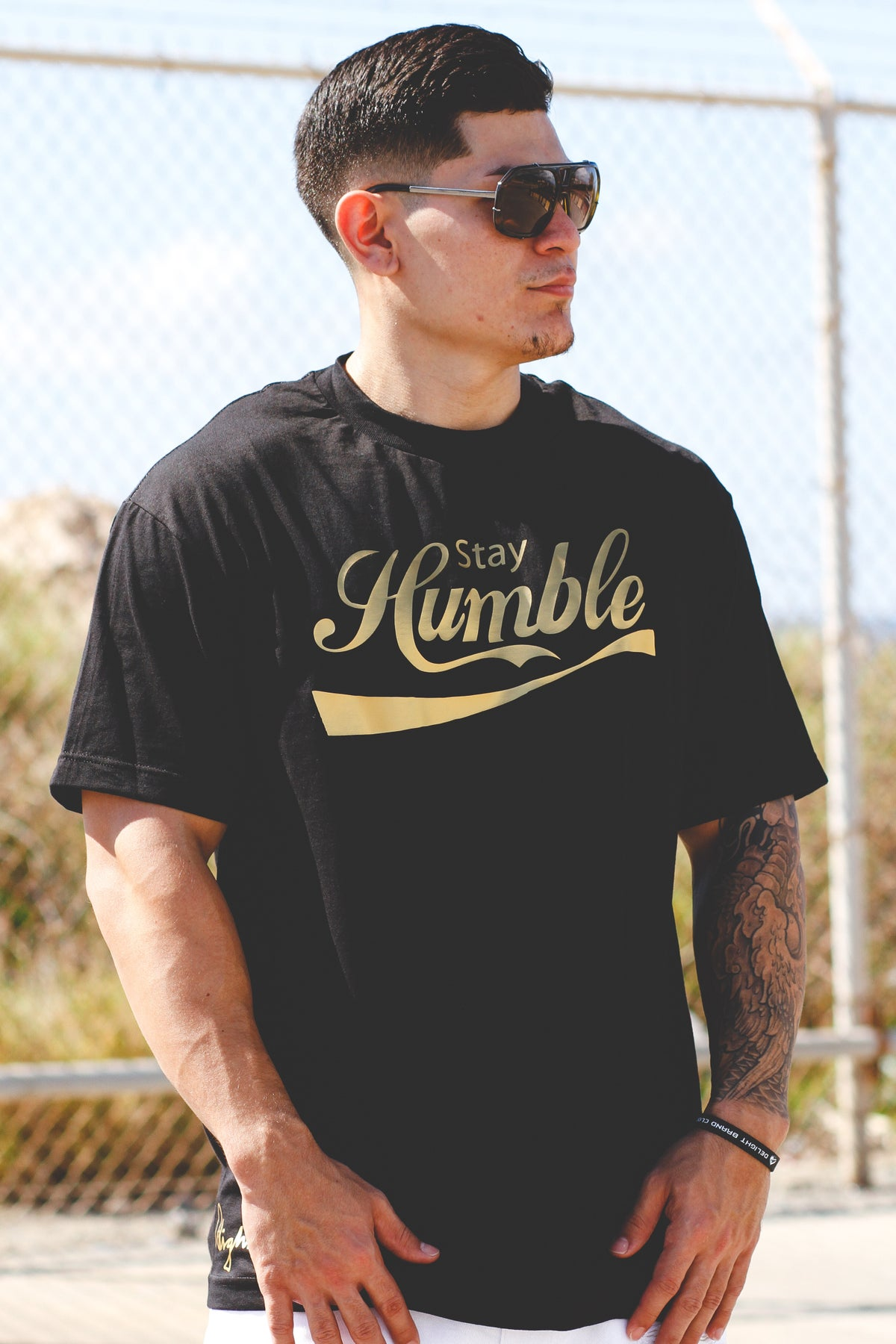 Stay Humble Tee (Black/Gold)