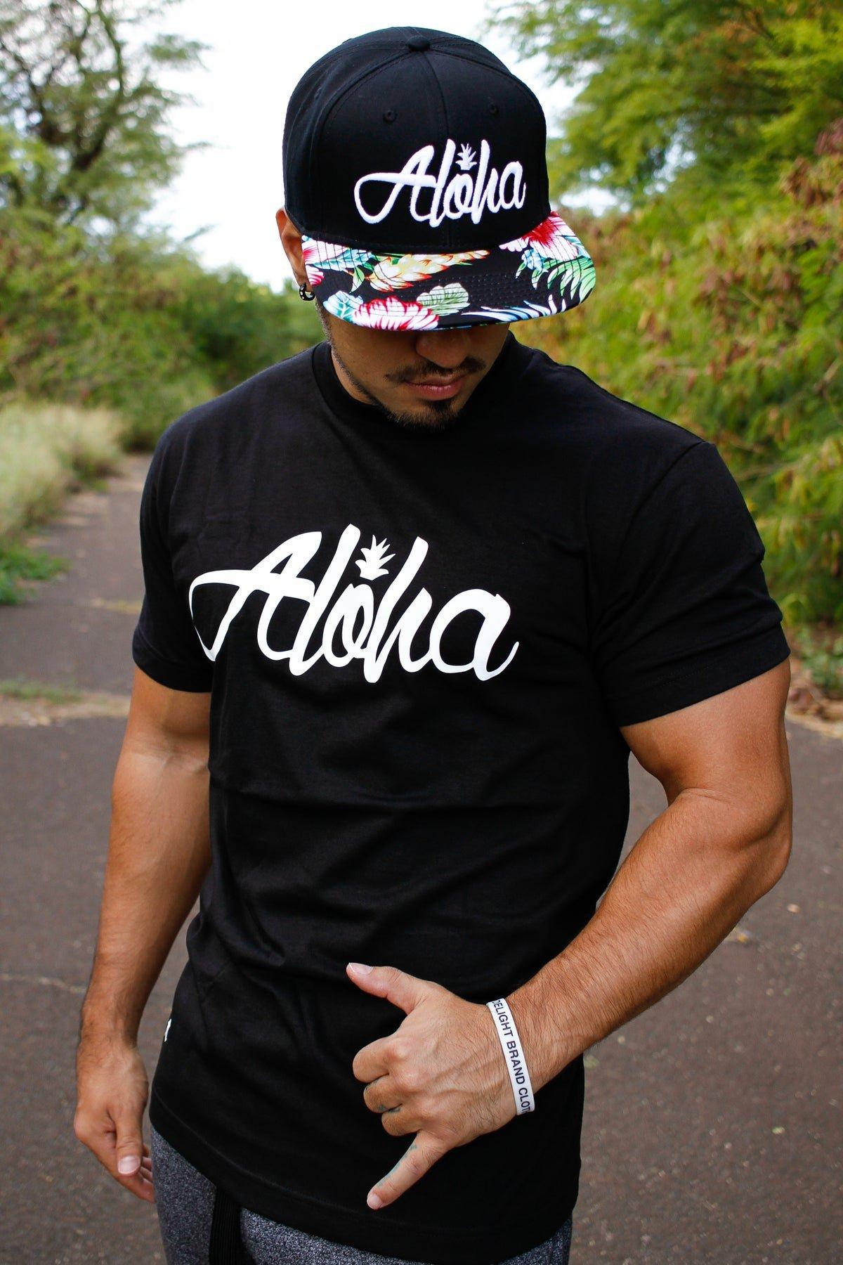 Aloha Pine Tee (Black/White)