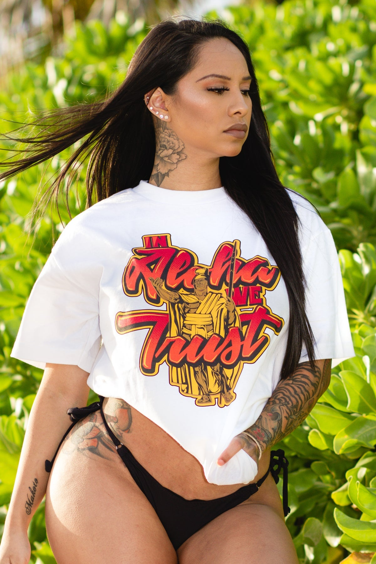 In Aloha We Trust Tee (White)